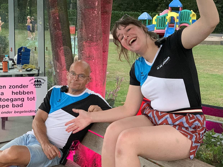 Vrijwilligers foto 2 2020 - zwembad in de dennen