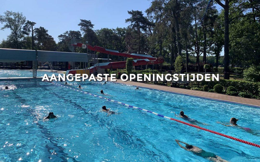 Aangepaste openingstijden - zwembad in de dennen